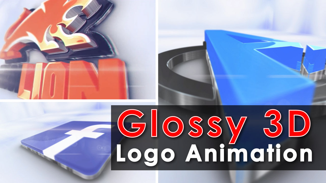 I will Make Glossy 3D Logo Animation with your Logo
