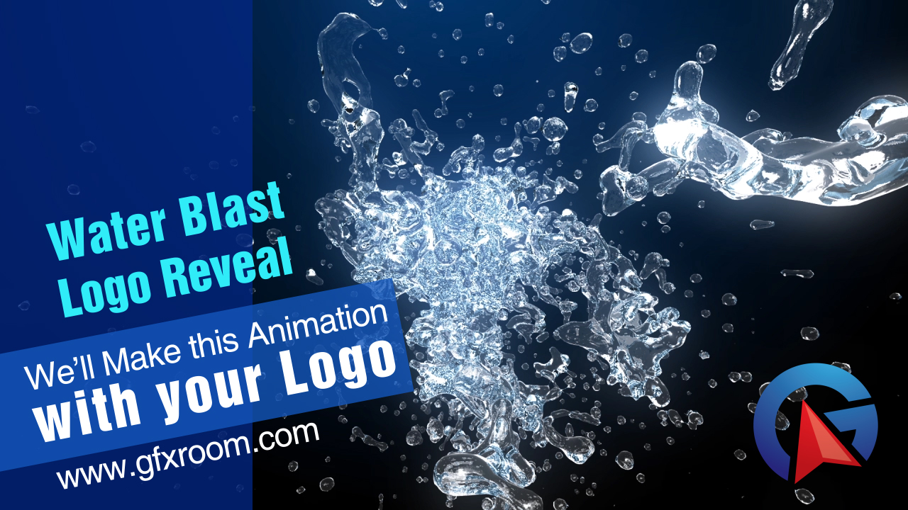 I will Make Water Blast Logo Reveal Animation with your Logo